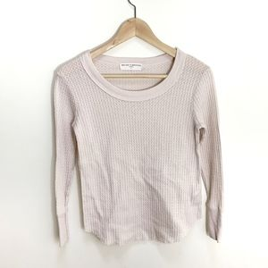 PROJECT SOCIAL T UO cream thermal shirt XS